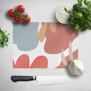 Abstract Clouds And Leaves Chopping Board