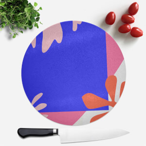 Bright Coloured Leaves Round Chopping Board