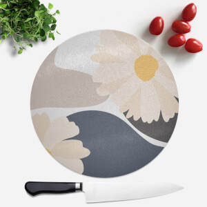 Abstract Daisies Round Chopping Board