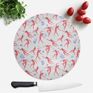 Dancing Silhouettes Round Chopping Board