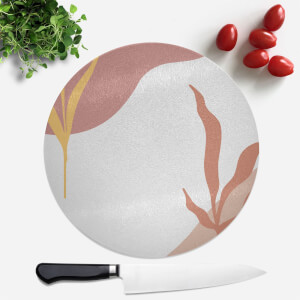 Abstract Garden Round Chopping Board