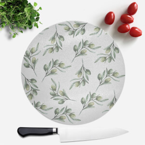 Olive Branch Round Chopping Board