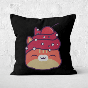 Cupcake Cat Square Cushion