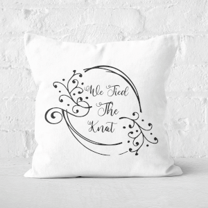 We Tied The Knot Square Cushion