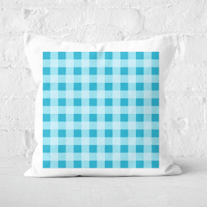 Baking Blanket Blue Square Cushion