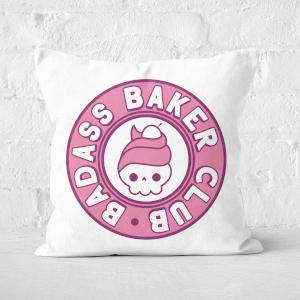 Badass Baker Club Square Cushion