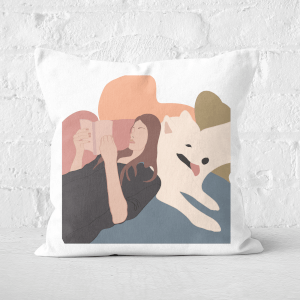 Reading Buddies Square Cushion