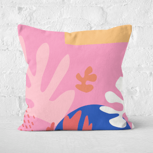 Colourful Abstract Square Cushion