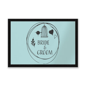 Bride And Groom Entrance Mat