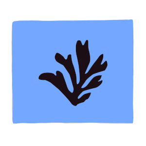 Black Leaf Fleece Blanket