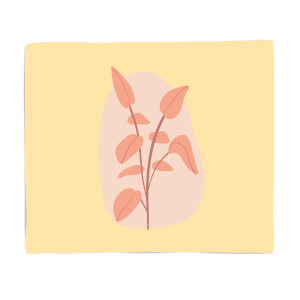 Stalk And Leaves Fleece Blanket