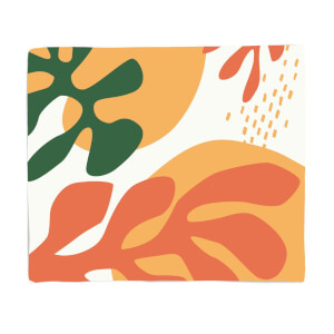 Mid Warm Leaf Pattern Fleece Blanket