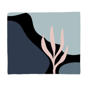 Rocks And Trees Fleece Blanket