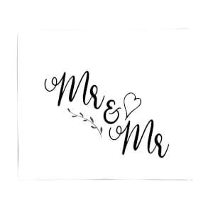 Mr&Mr Fleece Blanket