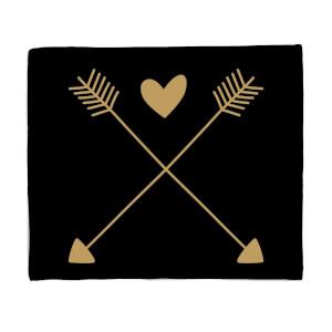 Hearts And Arrows Fleece Blanket
