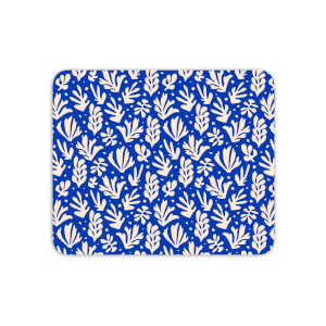 Cool Tone Leaves Mouse Mat