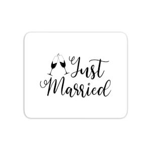 Just Married Signature Mouse Mat
