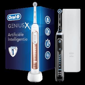 Genius 20900 Elektrische Tandenborstel Duo-pak - Zwart & Roségoud