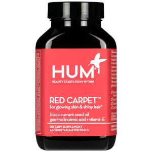 HUM Nutrition Red Carpet Skin and Hair Health Supplement (60 Vegan Softgels, 30 Days)