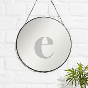 E Engraved Mirror