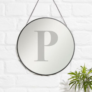 P Engraved Mirror