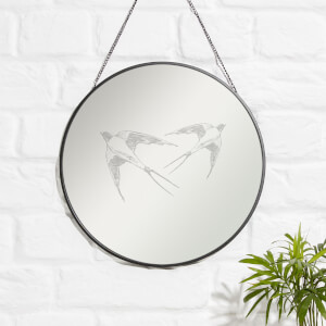 Swallows Engraved Mirror