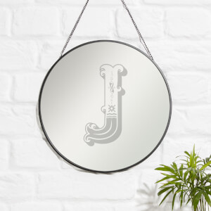 Circus J Engraved Mirror