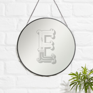 Circus E Engraved Mirror