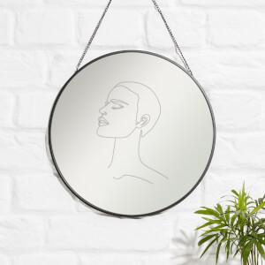 Face The Sun Engraved Mirror