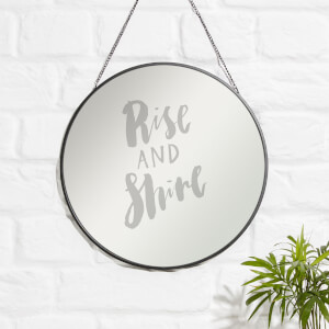 Rise And Shine Engraved Mirror