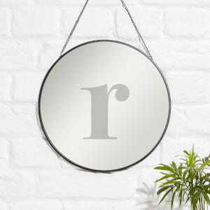 R Engraved Mirror
