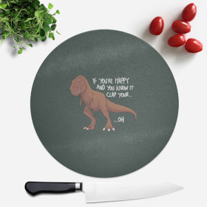 If You're Happy and You Know It Round Chopping Board
