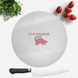 Babysaurus Round Chopping Board