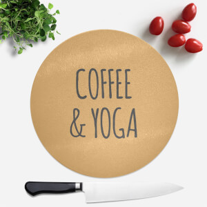 Coffee And Yoga Round Chopping Board