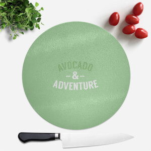 Avocado And Adventure Round Chopping Board