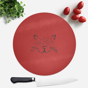 Check Meowt Round Chopping Board