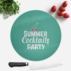 Summer Cocktails Party Round Chopping Board