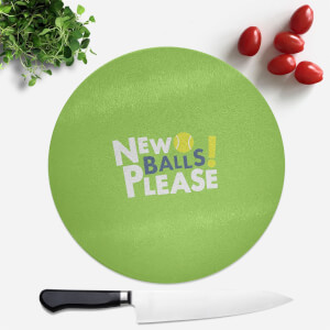 New Balls Please Round Chopping Board