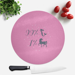 99% Mermaid 1 % Unicorn Round Chopping Board