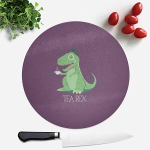 Tea Rex Round Chopping Board