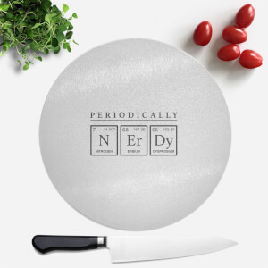 Periodically Nerdy Round Chopping Board