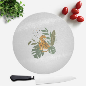 Pressed Flowers Majestic Queen Round Chopping Board