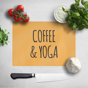 Coffee And Yoga Chopping Board