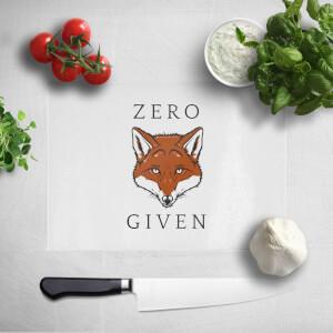 Zero Fox Given Chopping Board