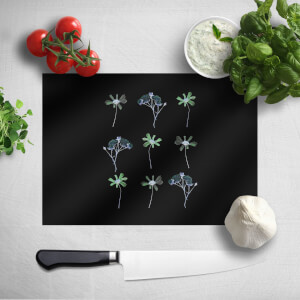 Pressed Flowers Inverted Trio Flower Print Chopping Board