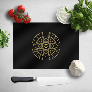Pressed Flowers Decorative Planet Symbols Chopping Board