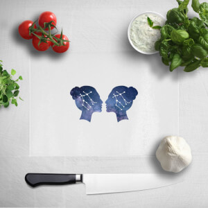 Pressed Flowers Gemini Chopping Board