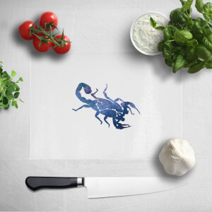 Pressed Flowers Scorpio Chopping Board