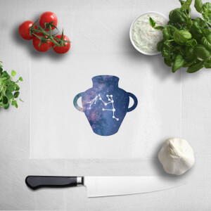 Pressed Flowers Aquarius Chopping Board