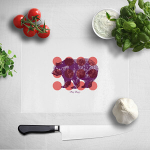 Pressed Flowers Keep Strong Chopping Board